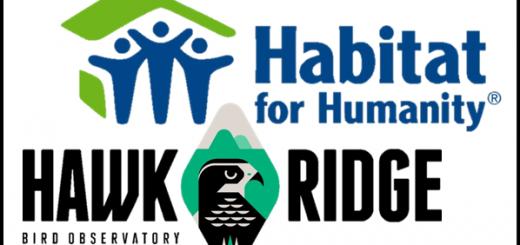 Habitat & Hawk Logos, Stacked 2
