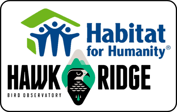Habitat & Hawk Logos, Stacked 2