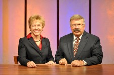 """Almanac North"" hosts Julie Zenner and Dennis Anderson"